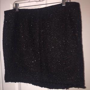 Women's size 16 Michael kors black sequin skirt